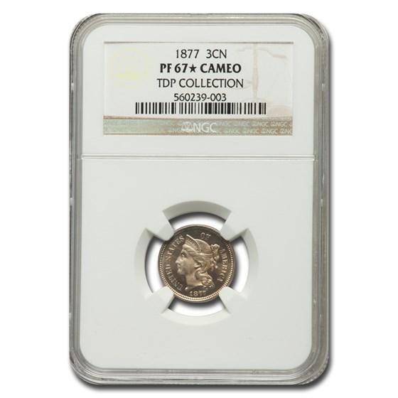 1877 Three Cent Nickel PF-67* Cameo NGC