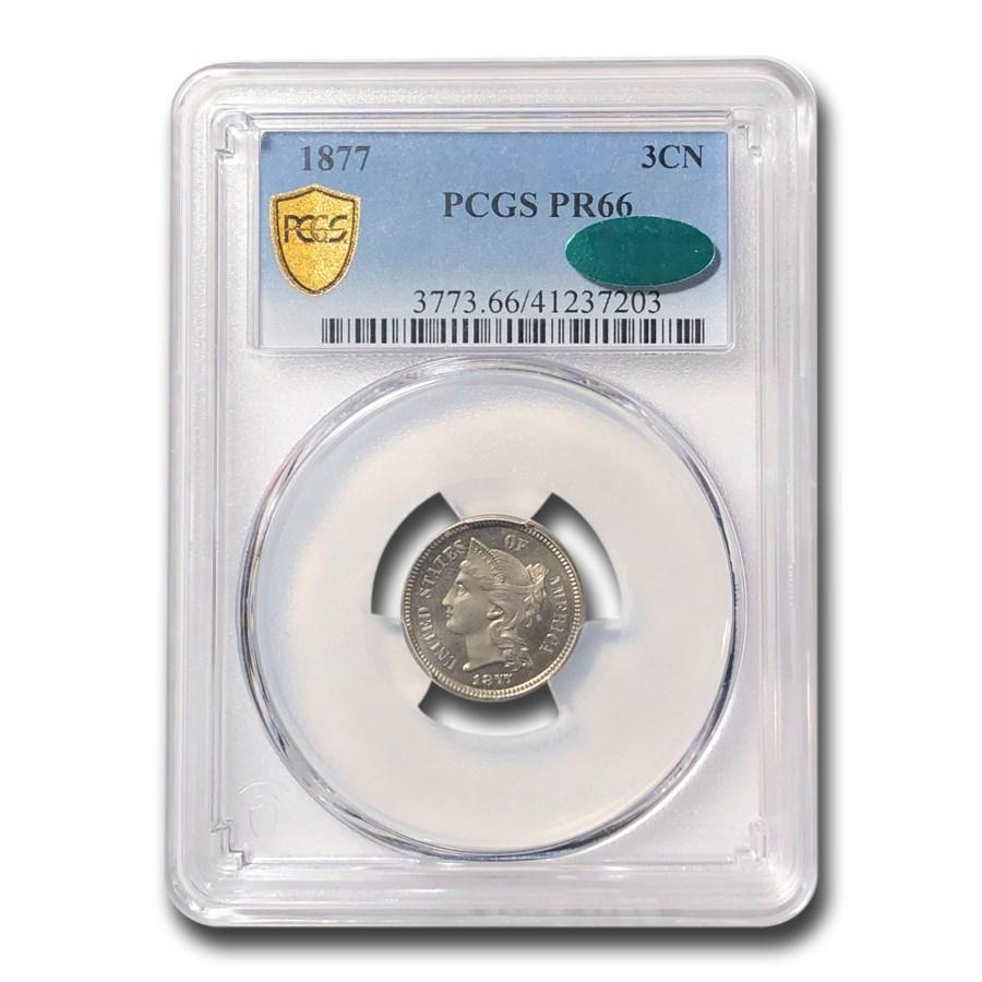 1877 Three Cent Nickel PR-66 PCGS CAC