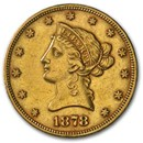 1878 $10 Liberty Gold Eagle AU