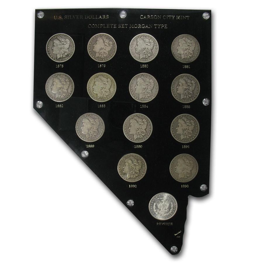 1878-1893 14-Coin Morgan Dollar Carson City Set
