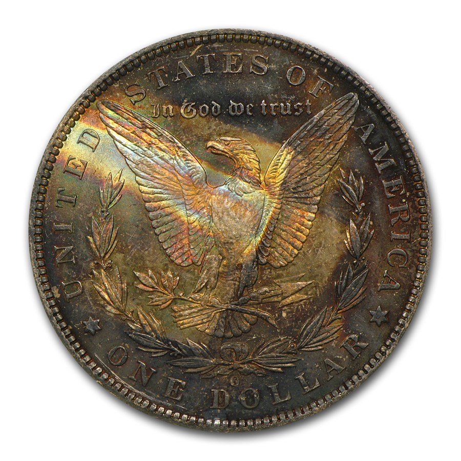 1878-1904 Morgan Dollars MS-63 NGC (Toned, Obv/Rev)