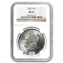 1878-1904 Morgan Dollars MS-63 NGC