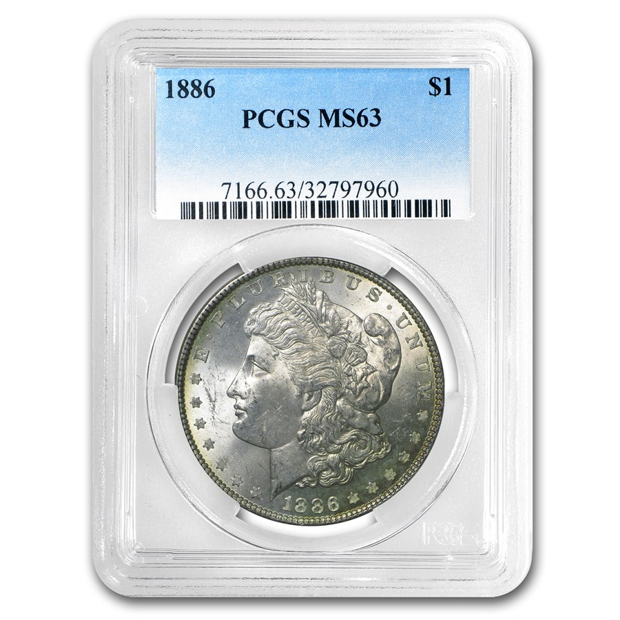 1878-1904 Morgan Dollars MS-63 PCGS (Toned, Obv/Rev)