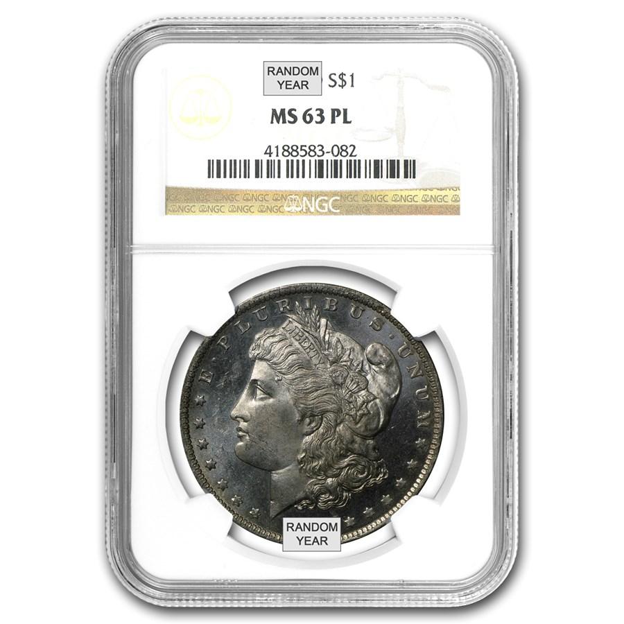1878-1904 Morgan Dollars MS-63 PL NGC