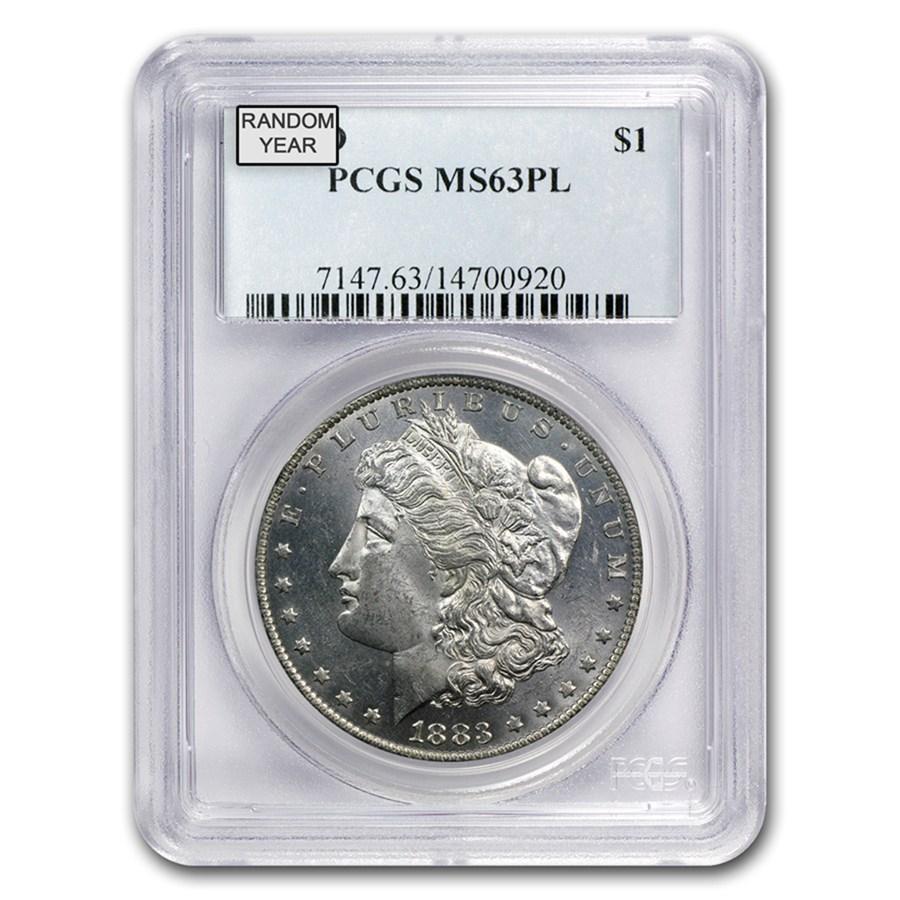 1878-1904 Morgan Dollars MS-63 PL PCGS