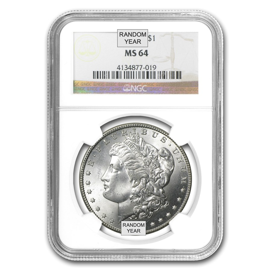 1878-1904 Morgan Dollars MS-64 NGC