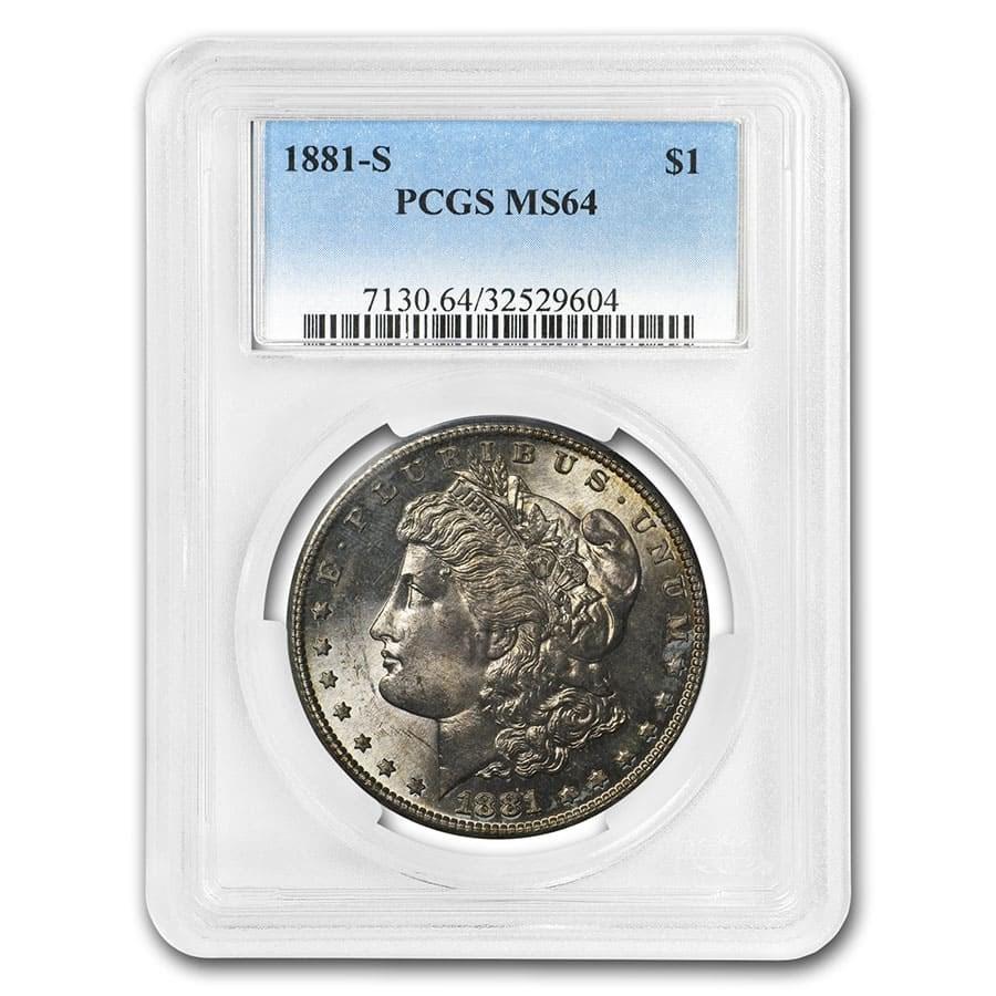 1878-1904 Morgan Dollars MS-64 PCGS (Toned Obv/Rev)