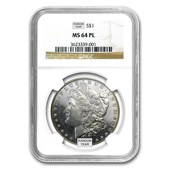 1878-1904 Morgan Dollars MS-64 PL NGC