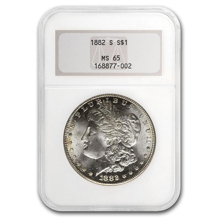 1878-1904 Morgan Dollars MS-65 NGC (Old Gen Holder)