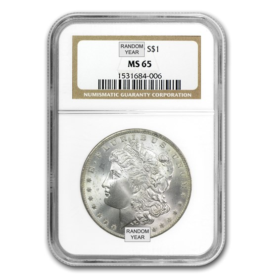1878-1904 Morgan Dollars MS-65 NGC