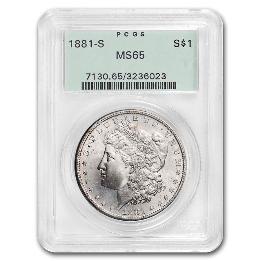 1878-1904 Morgan Dollars MS-65 PCGS (OGH, Toned)