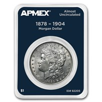 1878-1904 Morgan Silver Dollar APMEX Card AU (Random Year)