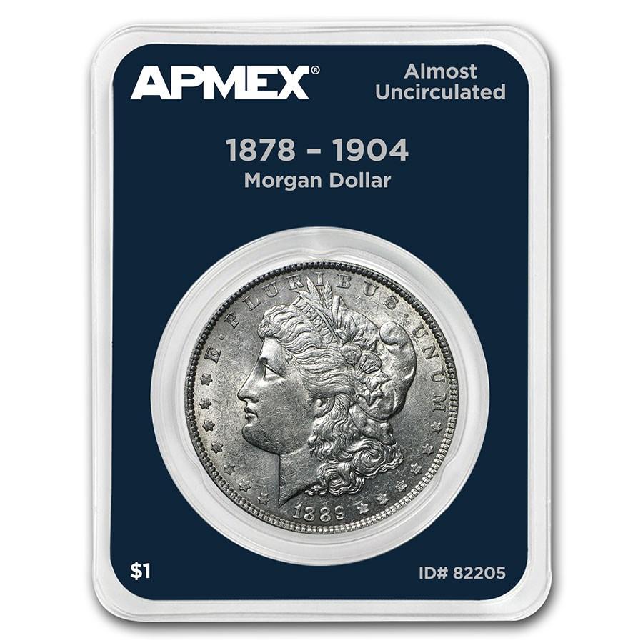 1878-1904 Morgan Silver Dollar APMEX Card AU (Random Year)