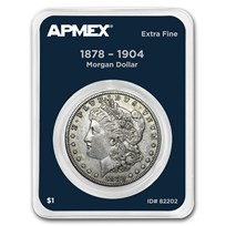 1878-1904 Morgan Silver Dollar APMEX Card XF (Random Year)