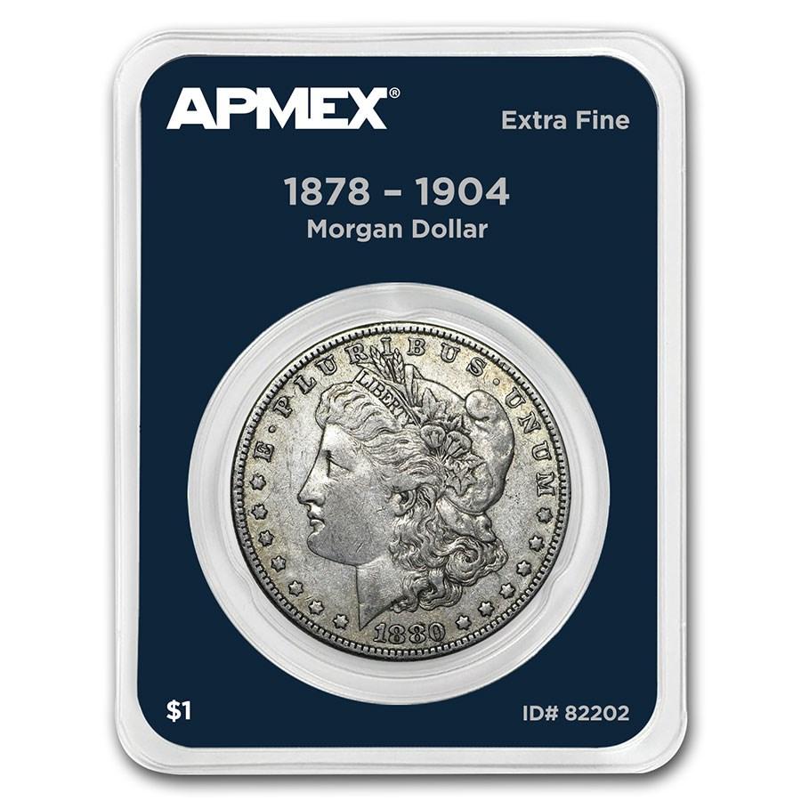 1878-1904 Morgan Silver Dollar APMEX Card XF (Random Year)