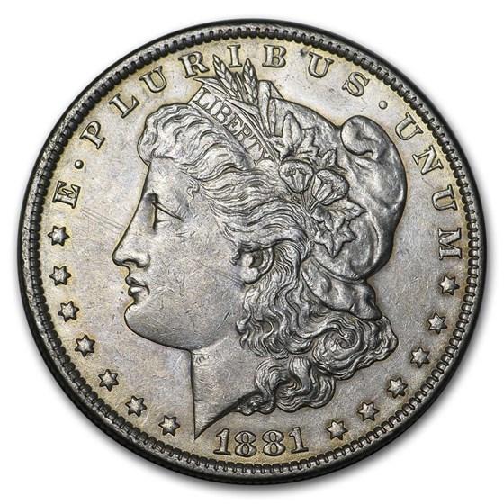 1878-1904 Morgan Silver Dollar AU (Cleaned, Random Year)
