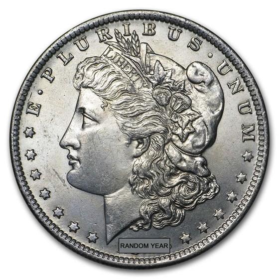1878-1904 Morgan Silver Dollar BU (Cleaned, Random Year)