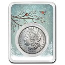 1878-1904 Morgan Silver Dollar Snowy Birds Card BU (Random Year)