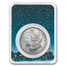 1878-1904 Morgan Silver Dollar Snowy Scene Card BU (Random Year)