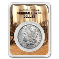 1878-1904 Morgan Silver Dollar Wagon Card BU (Random Year)