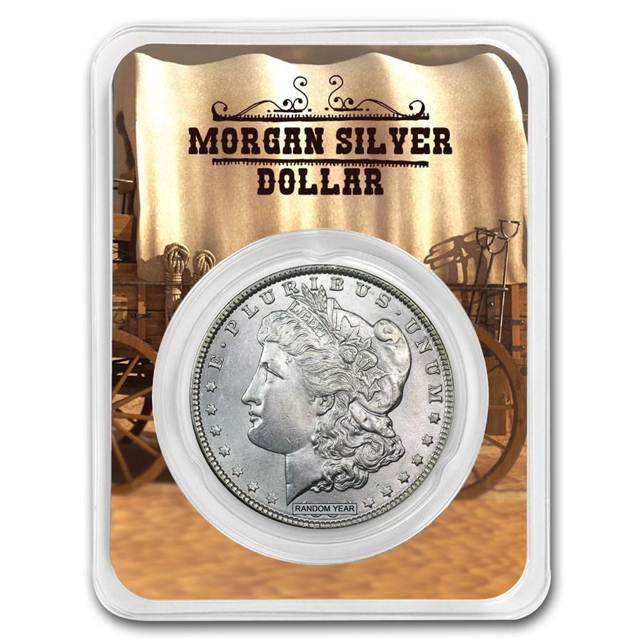1878-1904 Morgan Silver Dollar Wagon Card BU (Random Year)