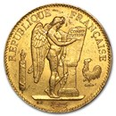 1878-1914 France Gold 100 Francs Lucky Angel (Avg Circ)