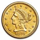 1878 $2.50 Liberty Gold Quarter Eagle AU