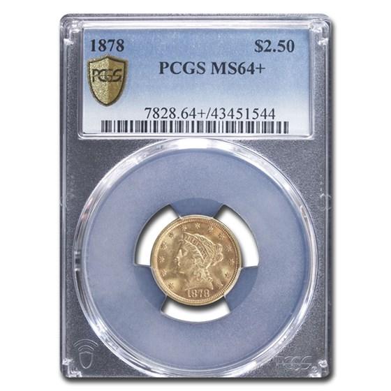 1878 $2.50 Liberty Gold Quarter Eagle MS-64+ PCGS