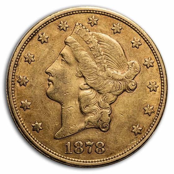 1878 $20 Liberty Gold Double Eagle AU