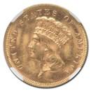 1878 $3 Gold Princess MS-63 NGC