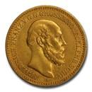 1878-A Germany Gold 10 Mark AU-53 PCGS