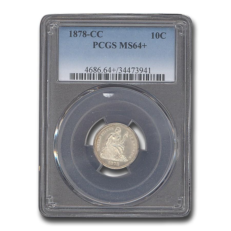 1878-CC Liberty Seated Dime MS-64+ PCGS