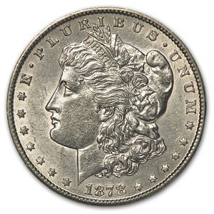 1878-CC Morgan Dollar AU-58 Details (Cleaned)