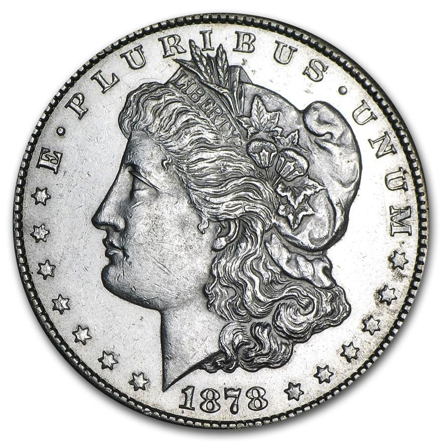 1878-CC Morgan Dollar AU-58