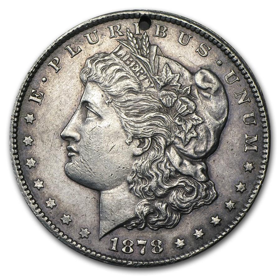 1878-CC Morgan Dollar AU Details (Holed)