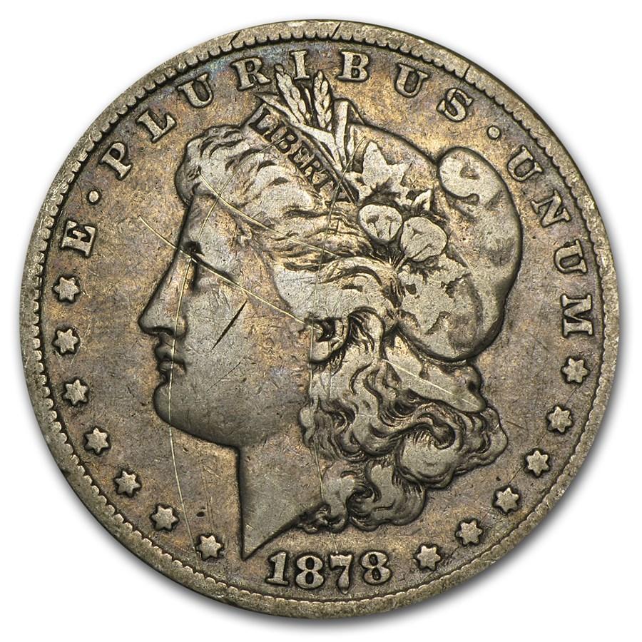 1878-CC Morgan Dollar Fine Details (Cleaned)