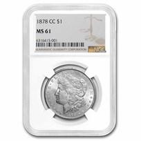 1878-CC Morgan Dollar MS-61 NGC