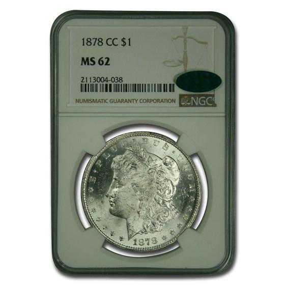 1878-CC Morgan Dollar MS-62 NGC CAC