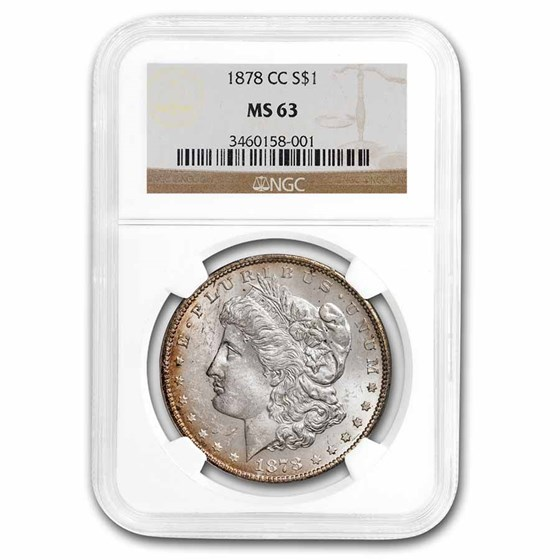1878-CC Morgan Dollar MS-63 NGC