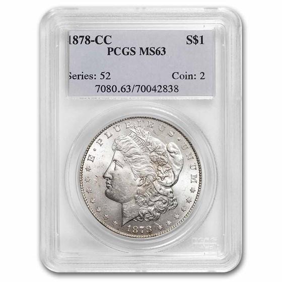 1878-CC Morgan Dollar MS-63 PCGS