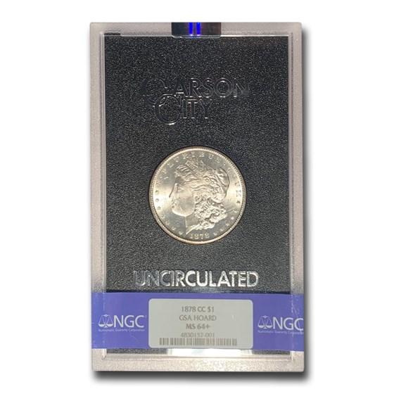 1878-CC Morgan Dollar MS-64+ NGC (GSA)