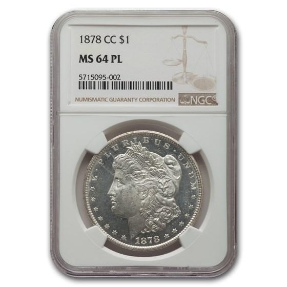 1878-CC Morgan Dollar MS-64 NGC (PL)