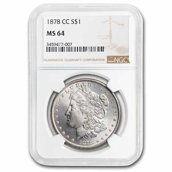 1878-CC Morgan Dollar MS-64 NGC