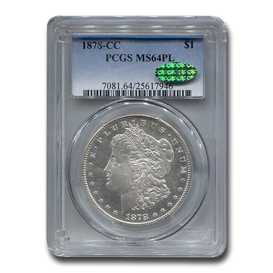 1878-CC Morgan Dollar MS-64 PCGS CAC (PL)