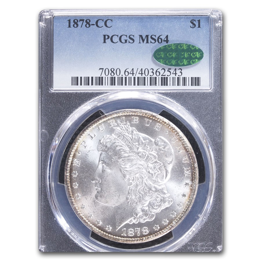 1878-CC Morgan Dollar MS-64 PCGS CAC