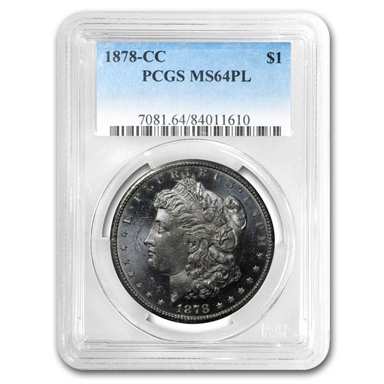 1878-CC Morgan Dollar MS-64 PL PCGS