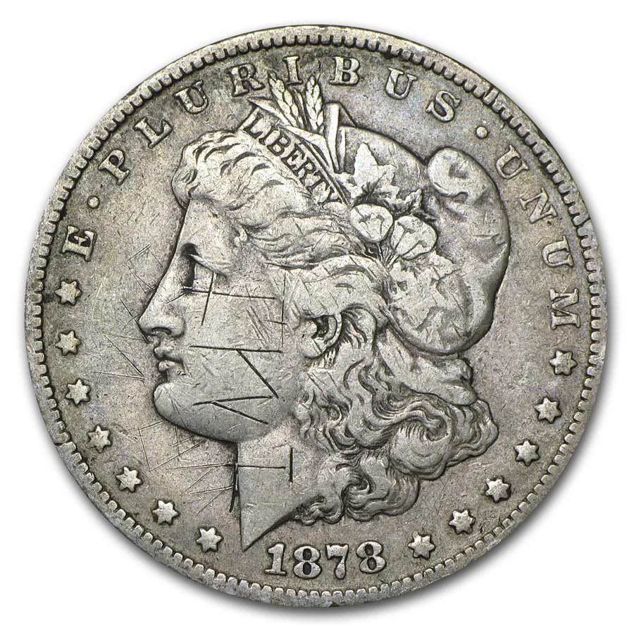 1878-CC Morgan Dollar VF Details (Graffiti)