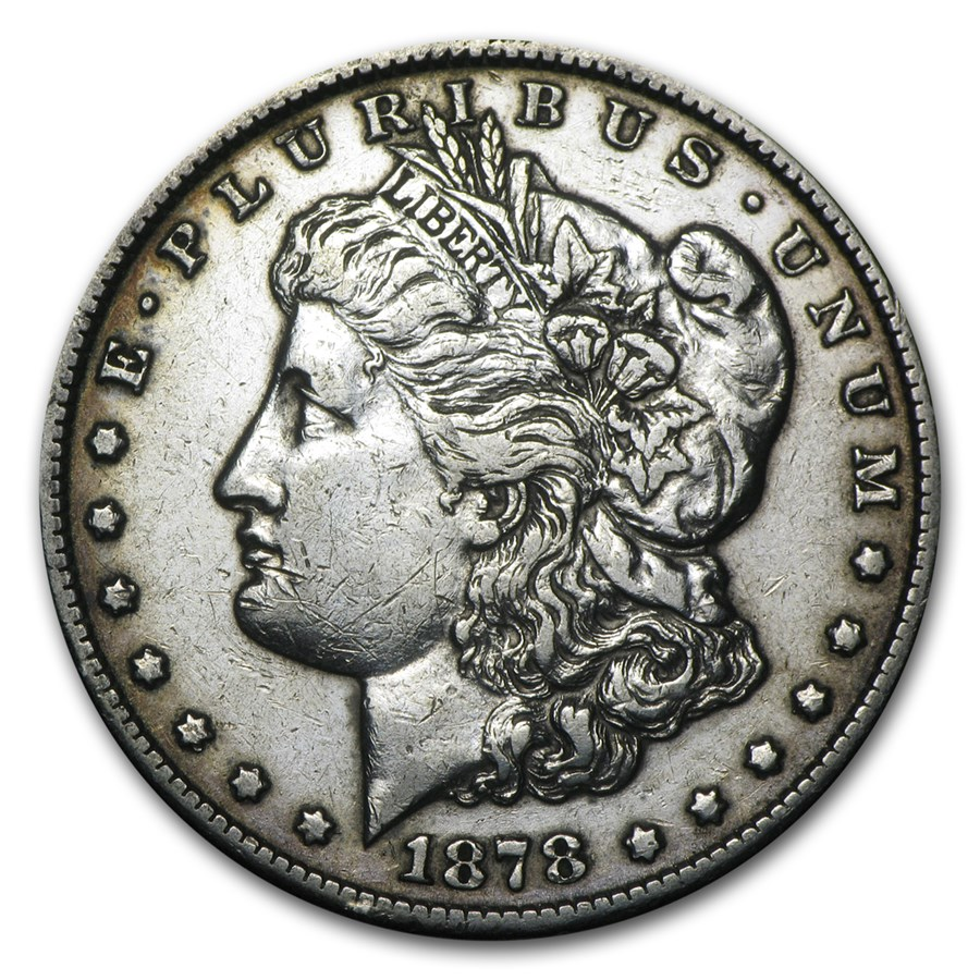 1878-CC Morgan Dollar XF Details (Cleaned)