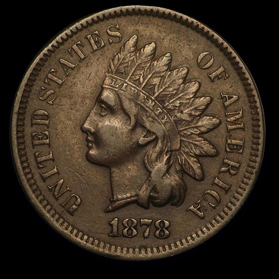1878 Indian Head Cent AU