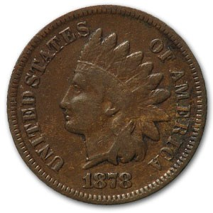 1878 Indian Head Cent Fine